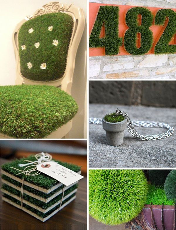 DIY projects with artificial grass Grass decor, Fake