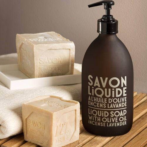 Savon liquide à l'huile d'olive 500ml Encens Lavande Compagnie de Provence : Decoclico