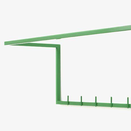 26x90 cm Clothes Rack - Green - alt_image_one
