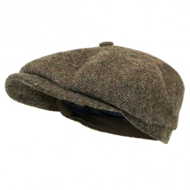 4e1c6e4894a15 Stetson Burney Leather Bakerboy Cap Newsboy Gatsby Herren-Accessoires