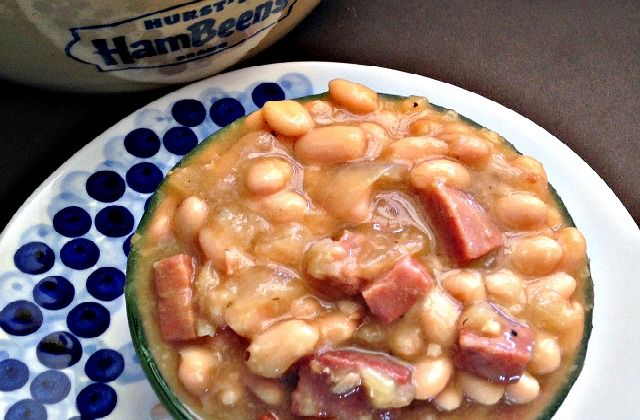Slow Cooker Ham and Beans - Use up your leftover Easter Ham!  www.GetCrocked.com