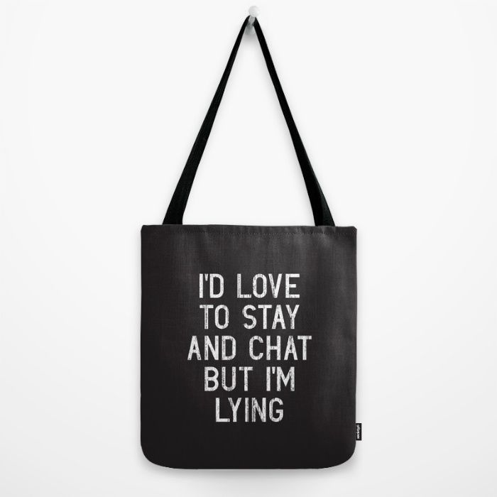 Buy Chat Tote Bag by Vectored Life. Worldwide shipping available at Society6.com. Just one of millions of high quality products available.