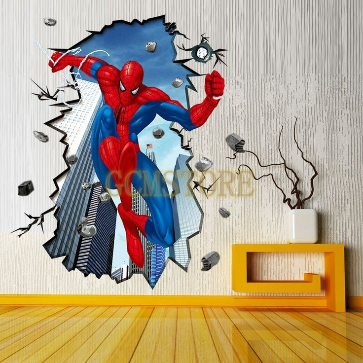 Best ANTHONYS ROOM IDEAS Images On Pinterest Spiderman Wall - Superhero wall decals uk