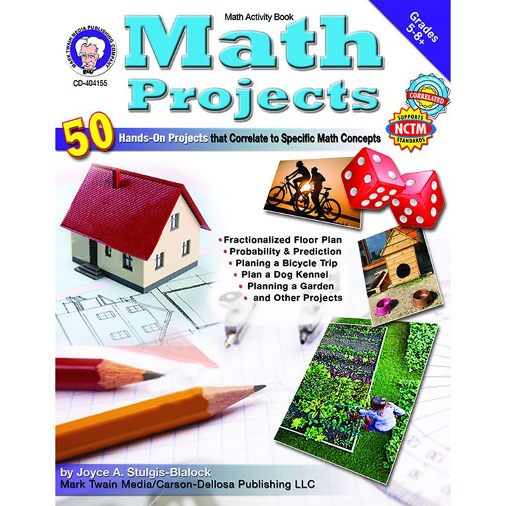 Math Projects provides exciting individual, partner, or small group projects that promote creative problem solving. Students will compute, read, write, and utilize social and artistic skills with the                                                                                                                                                                                  More