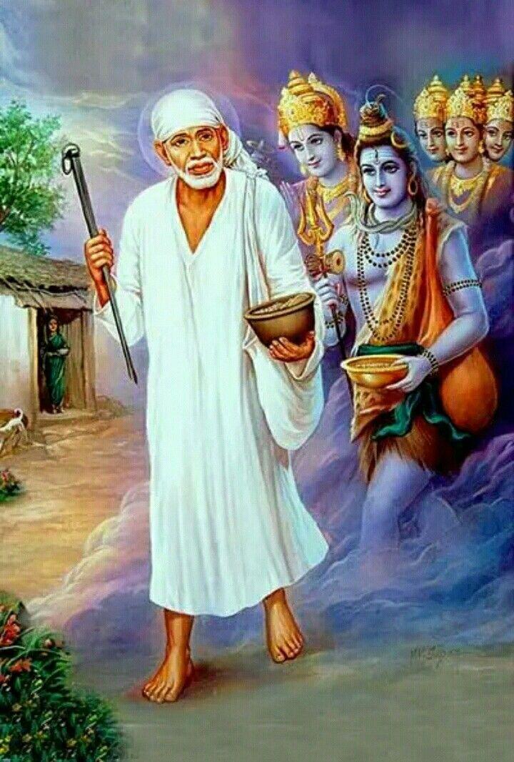 Pin by D. A. on Om Saibaba Baba image, Shirdi sai baba