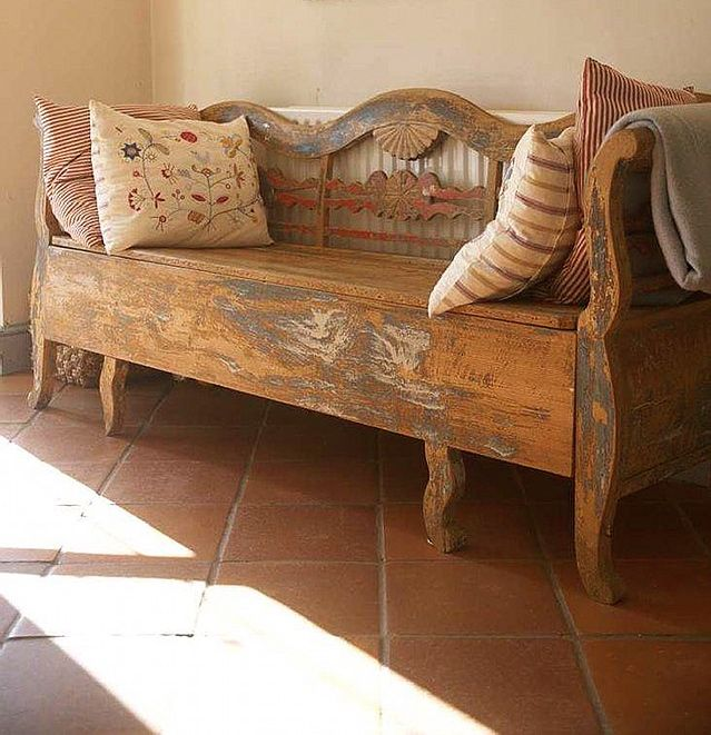 Old Wooden Bench ~ In this was my very st danish peice i bought