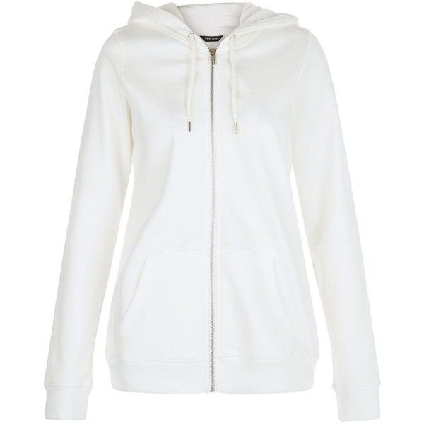 White Basic Zip Up Hoodie (£15) ❤ liked on Polyvore featuring tops, hoodies, white, white hooded sweatshirt, sweatshirt hoodies, white hoodie, hooded pullover and hooded zip up sweatshirt