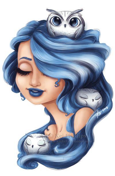 Owl Girl by kinkei.deviantart.com on @deviantART