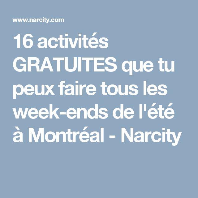 16 activités GRATUITES que tu peux faire tous les week-ends de l'été à Montréal - Narcity