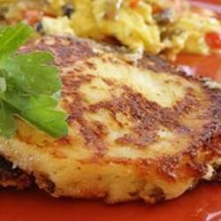"""My Crispy Mashed Potato Pancake 
