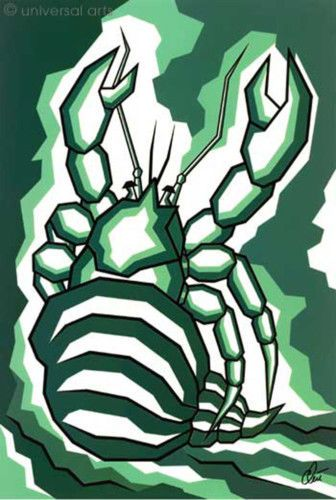 JACQUELINE DITT  - Krebs Sternzeichen (weitere i.Shop) Artcard Bild Bilder Karte
