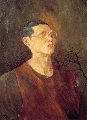 靉光『梢のある自画像』1944