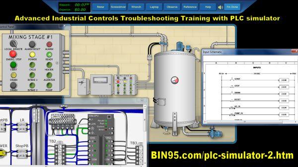 Advanced Industrial Controls Training With Plc Simulator