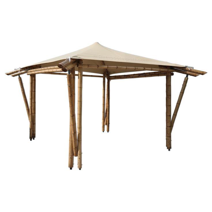 10 best bamboe overkappingen images on pinterest pergolas diy and bamboo ideas - Pergola met intrekbaar canvas ...