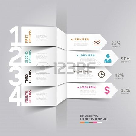 Modern arrow infographics element origami style  illustration  can be used for workflow layout, diagram, number options, step up options, web design