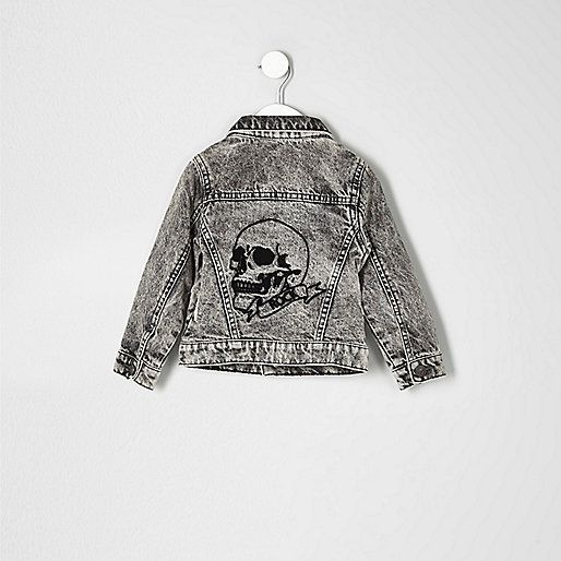 Mini boys grey acid wash denim jacket - baby boys coats / jackets - mini boys - boys