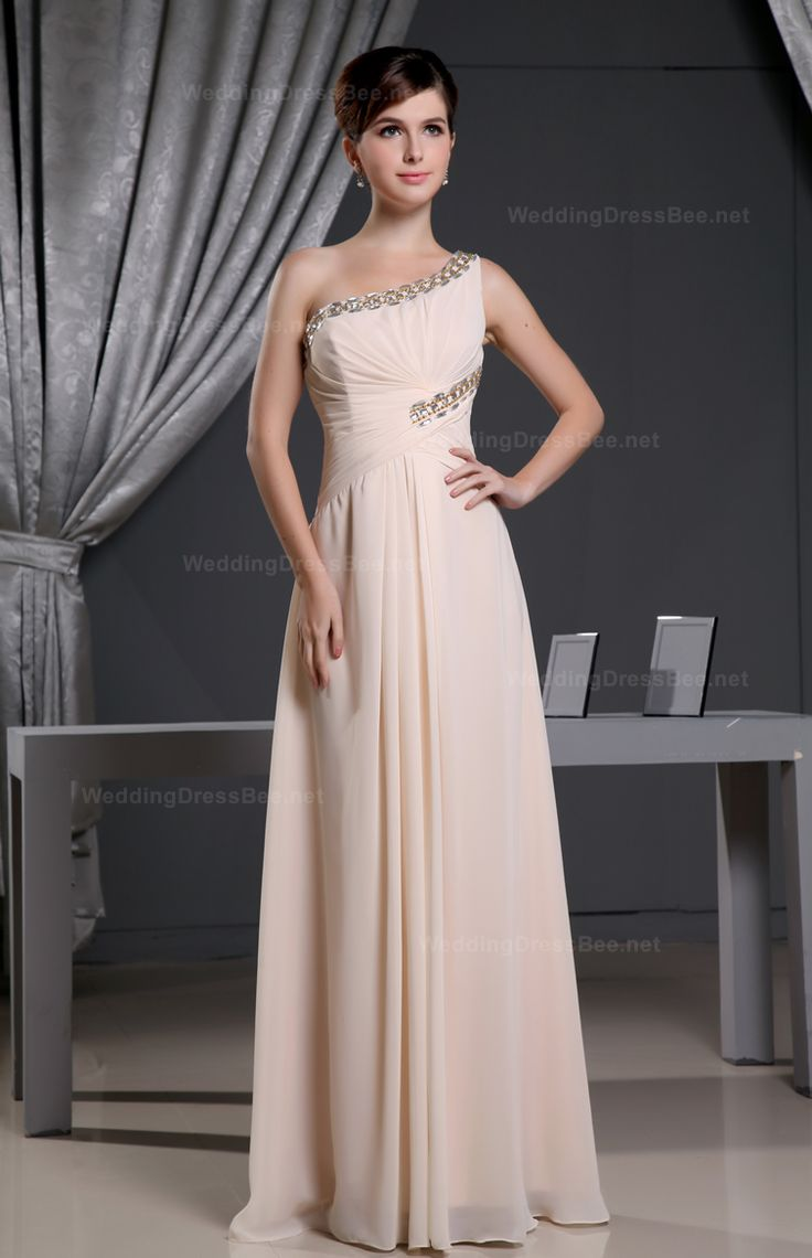 One Shoulder Baby Pink and Beading For Prom Dress- $143.05 www.fashionos.com junior