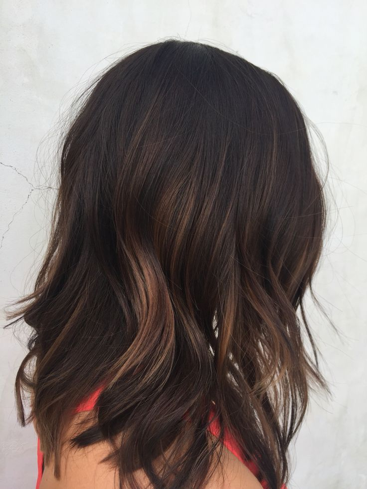 Subtle balayage /soft interior layering