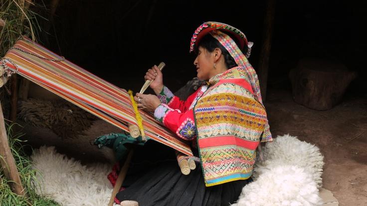Woman Weaving, photo by Joy Whitney