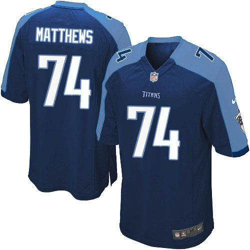 Youth Nike Tennessee Titans #74 Bruce Matthews Limited Navy Blue Alternate NFL Jersey Sale