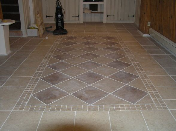 Tile Basement Floor vinyl flooring can look like wood planks parquet ceramic tile or stone but requires far less care and maintenance Basement Tile Flooring Design Ideas 1jpg 588