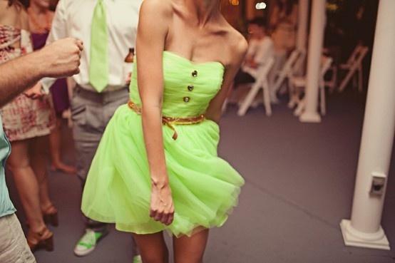 Neon Green Dresses