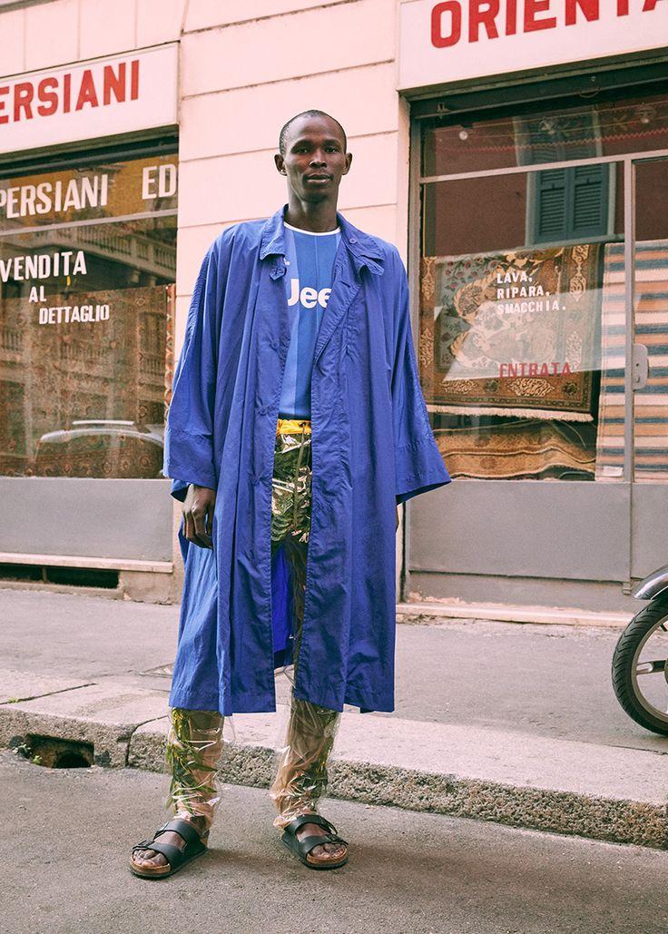 The Universe #20  Photo Stefan Giffthaler Fashion Editor Noey Park Model Manu Ndiaye – Major Models  Trench ISSEY MIYAKE MEN T-Shirt ADIDAS Pants ANGELOS FRENTZOS Sandal BIRKENSTOCK