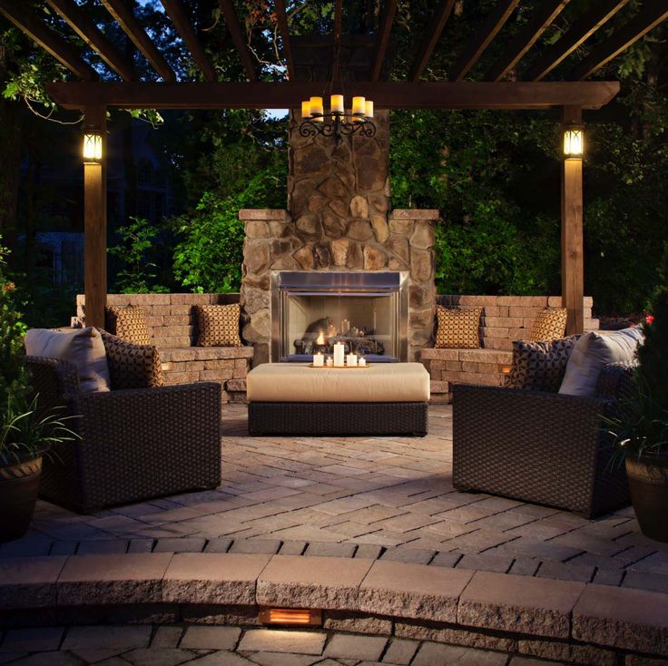 264 best outdoor fireplaces and firepits images on pinterest ... - Outdoor Patio Ideas With Fireplace