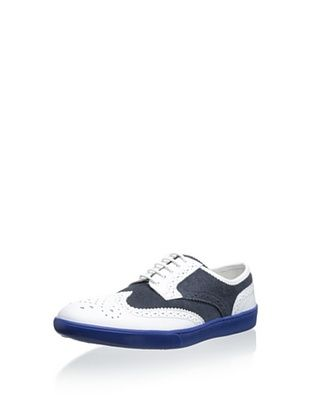49% OFF Swear Men's Gene 21 Leather Fashion Sneaker (White/navy)