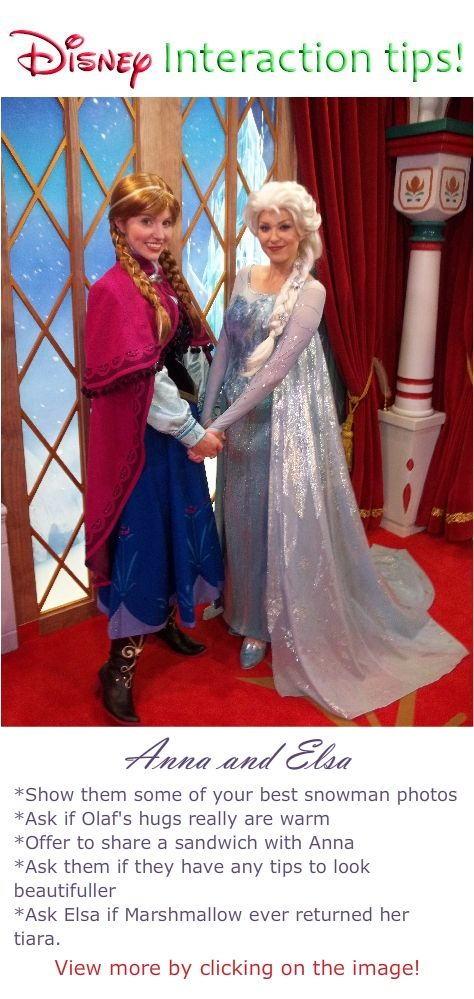 Disney World Characters Interaction Tips and what to say to characters Anna and…