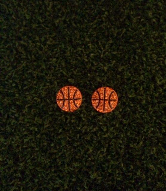 Basketball Stud Earrings