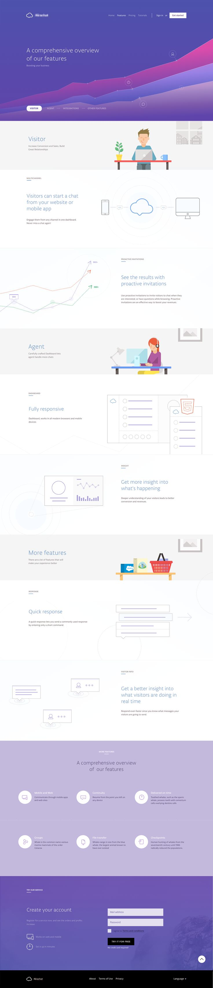 Features dribbble
