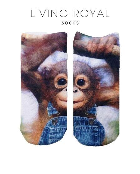 Monkeying Around Ankle Socks
