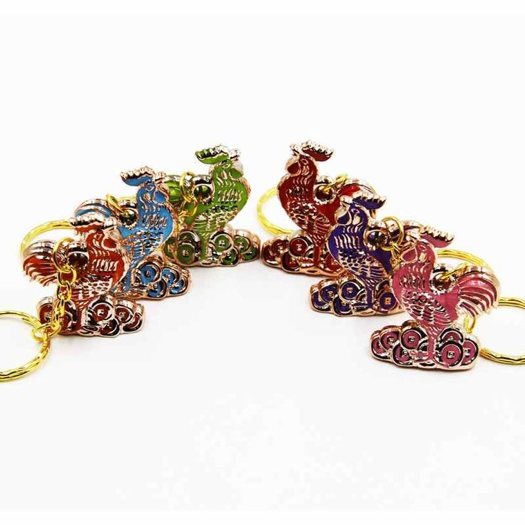1pcs 80mm Beautiful chic cock, cock key pendant key chain ring for Christmas jewelry 2016 L05054