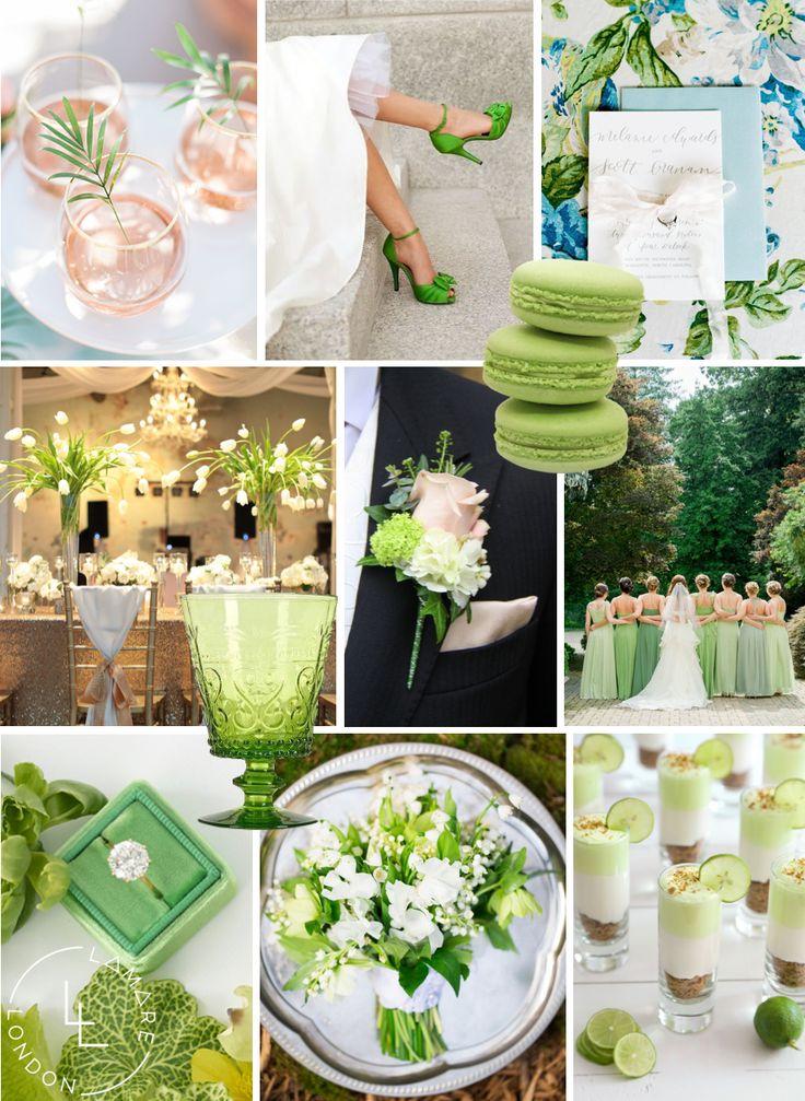 Pantone Color of the Year 2017   Pantone Greenery Moodboard   Wedding Moodboard   Wedding Inspiration   Luxury Wedding Planner   Lamare Londo