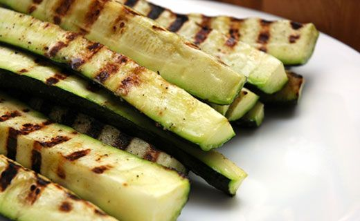 Barbecued Zucchini. Use a spray pump to mist olive oil evenly on zucchini. A great way to reduce fat and calories.