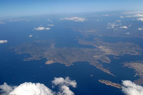 GR06 7711 Greece from above  Salamina