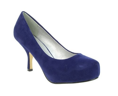 Truffle Womens Ladies Navy Mid Stiletto Heel Round Toe Court Shoes Size 5 Truffle, http://www.amazon.co.uk/dp/B008KL2ZM2/ref=cm_sw_r_pi_dp_jT2Uqb095P3ZX