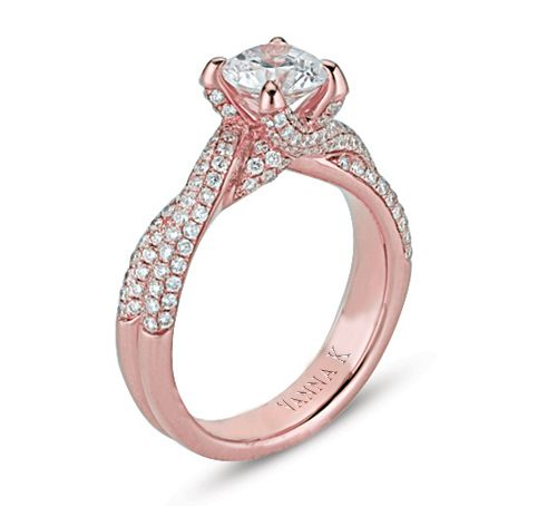 Rose Gold?!  I want, I want, I want!: Diamond Engagement Rings, Style, Rose Gold Engagement, Pink Gold Rings, Gold Diamond, 3Rings 3, Pave Engagement Rings, Wedding Rings, Rose Gold Rings
