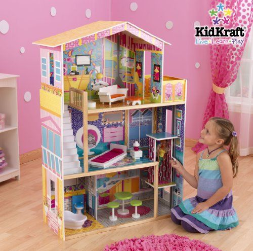 17 best images about wooden barbie house on pinterest for Dream wooden house