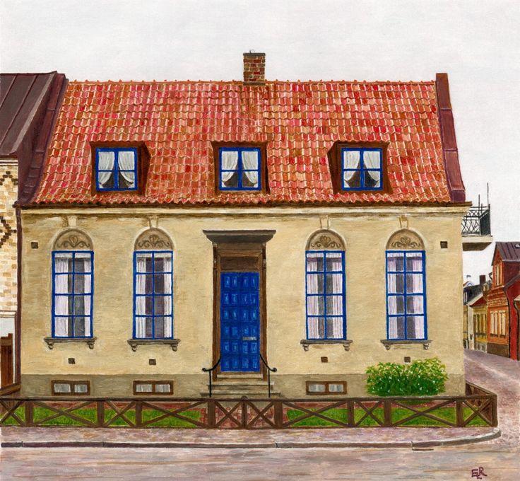 Blå-boden-målning