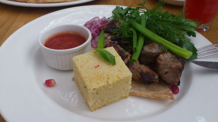 typical barbecue and cous cous from Saint Petersburg, Russia @Makaronniki, Italian Restaurant