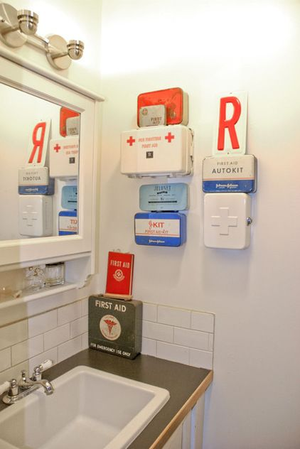 A nice collection of first aid kits.