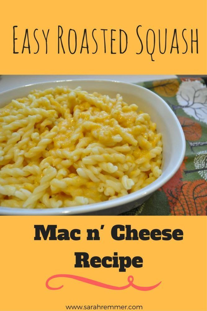 Easy, kid-approved Roasted Squash Mac and Cheese! A healthy spin on a family classic!