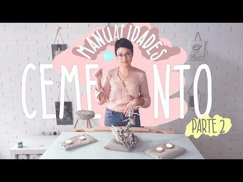 DIY / MANUALIDADES CON CEMENTO Pt 2 MuxaSari - YouTube