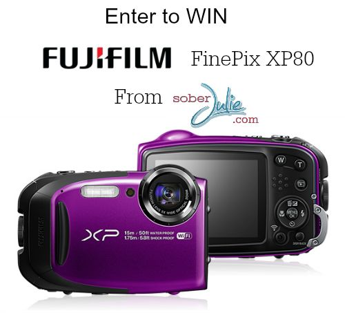 FujiFilm FinePix XP80 Waterproof Camera Review and Giveaway - Sober Julie