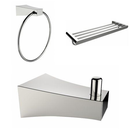 Robe Hook, Multi-Rod Towel Rack And Towel Ring Accessory Set, Silver