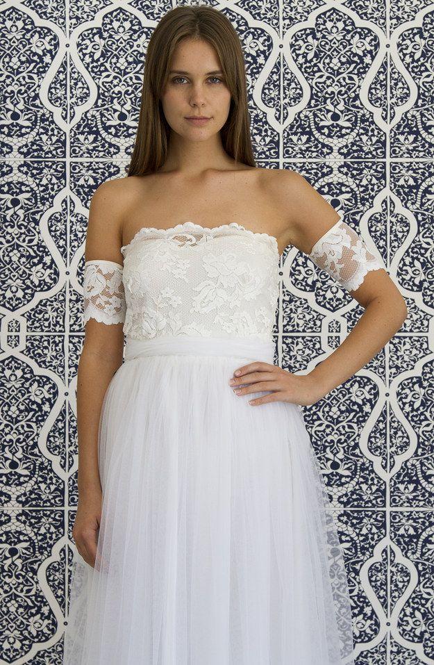 Горячий тренд: двухкомпонентный свадебный наряд-19