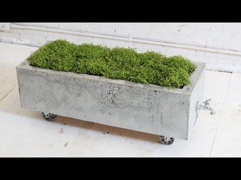 DIY Concrete Planter,, Episode 16, HomeMade Modern - YouTube