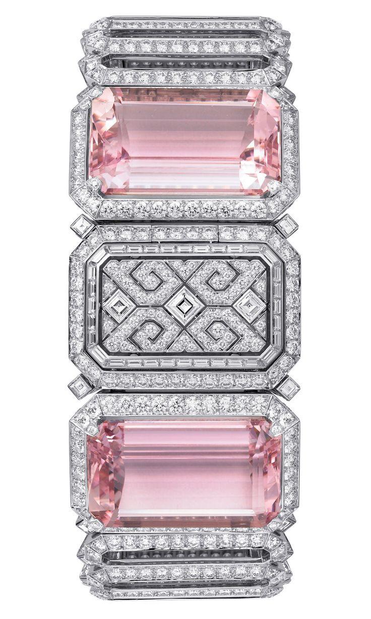 Cartier Urban secret watch with kunzites and diamonds